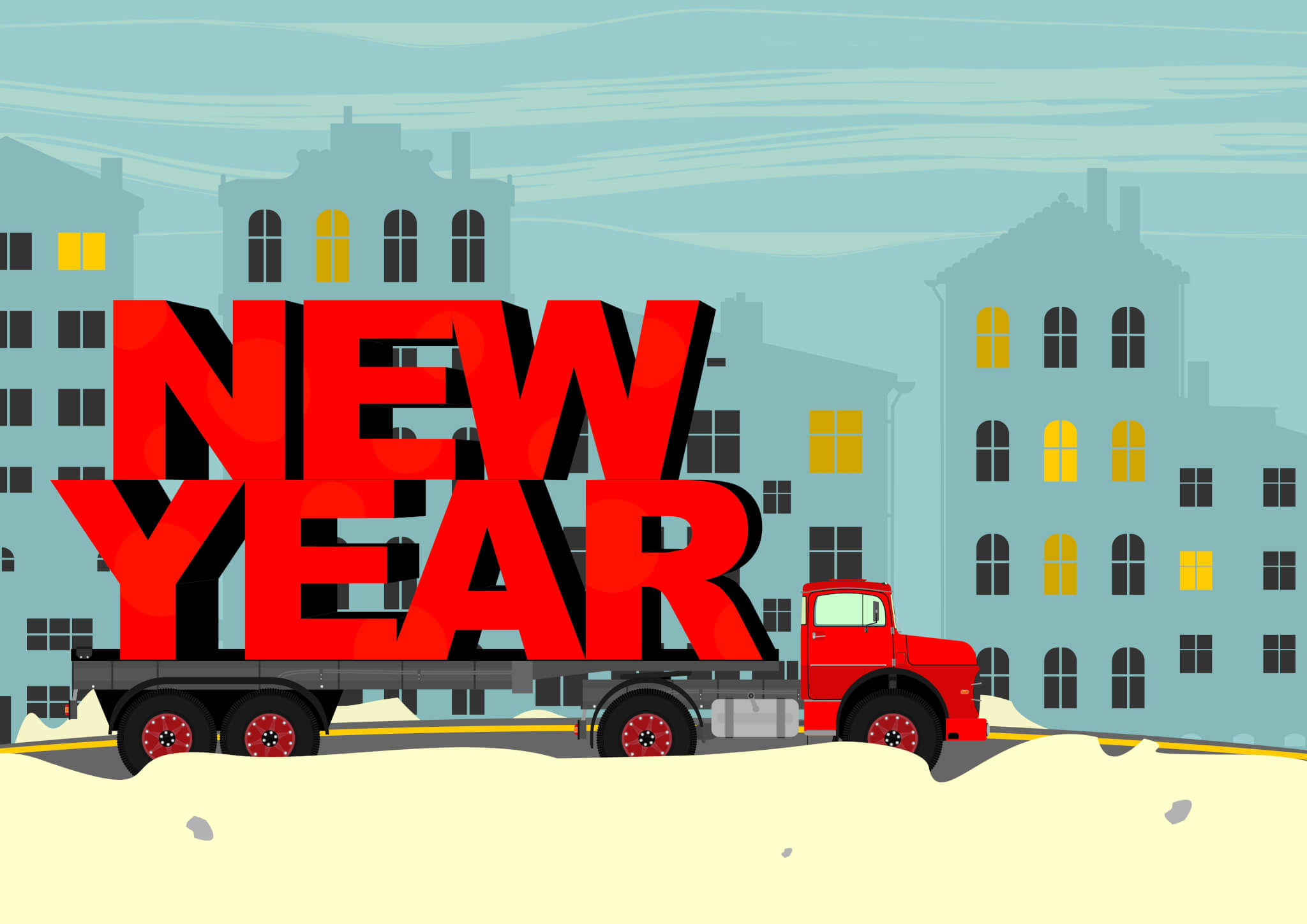 New year truck